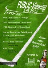 Die Fussball EM im Deutschen Haus Flensburg live erleben