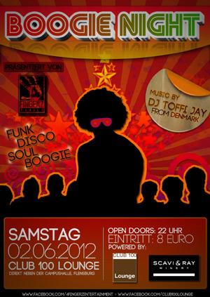 Neue Party in Flensburg: Die Boogie Night in der Club 100 Lounge
