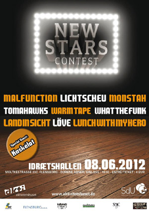 Festival New Stars Contest in der Flensburger Idrætshallen