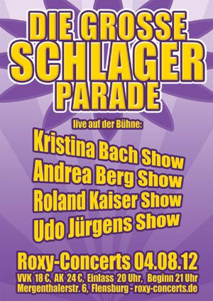 Grosse Schlagerparade im Roxy Concerts Flensburg