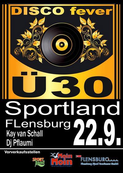 Im September im Sportland Flensburg: DISCO fever Ü30 – die Party für Erwachsene
