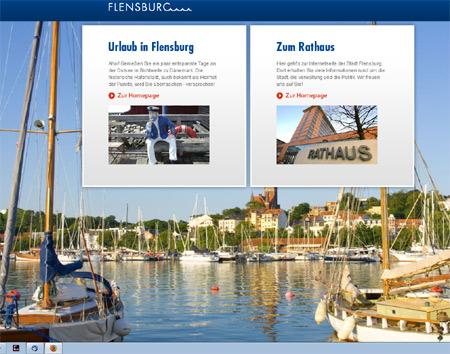 Umfrage zur Homepage der Stadt Flensburg