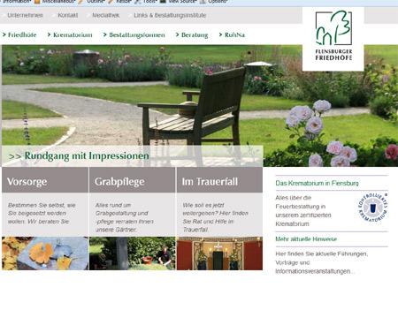 Neuer Internetauftritt der Flensburger Friedhöfe