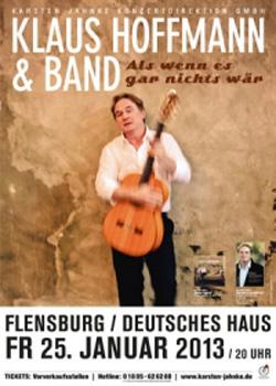 Grandseigneur des deutschen Chansons Klaus Hoffmann im Deutschen Haus Flensburg