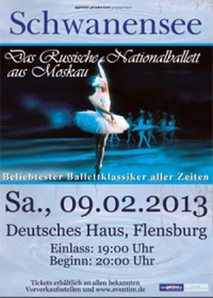 Graziös – Das russische Nationalballett aus Moskau tanzt Schwanensee im Deutschen Haus Flensburg