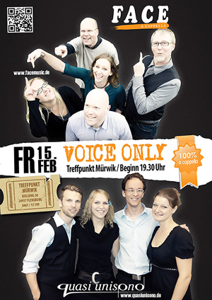 Voice only – A Cappella Doppelkonzert in Flensburg