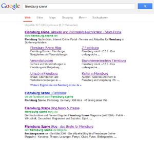 Flensburg Szene bei Google hoch im Kurs – kundenfreundliche Suchergebnisse