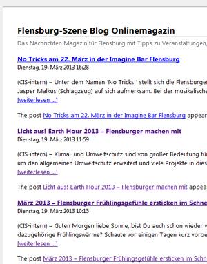 Was Flensburg-Szene über meinestadt.de so denkt und schnackt