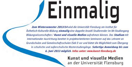 Einmalige Chance – Kunst-Studium an der Universität Flensburg