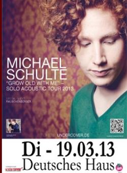 Michael Schulte am Dienstag live im Deutschen Haus