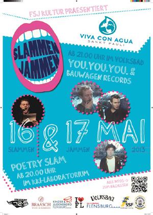 Slammen & Jammen mit FSJ´ler Kultur – Poetry Slam und Konzert mit  You.You.You.