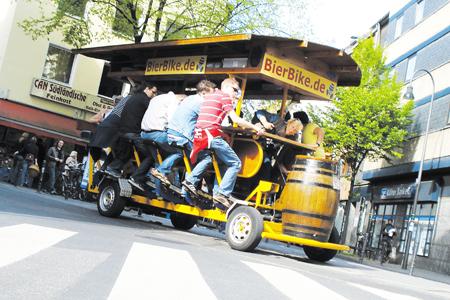 Bier Bikes benötigen Sondererlaubnis