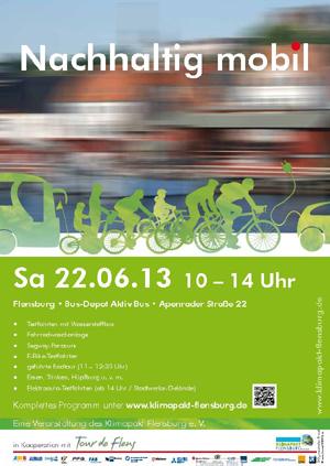 "Klimapakt Flensburg: Aktionstag ""Nachhaltig mobil"" am 22. Juni"