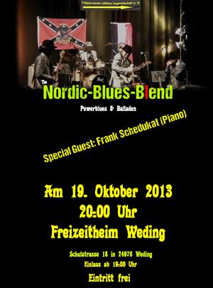 Benefiz-Konzert mit der Nordic Blues Blend im Freizeitheim Flensburg-Weding