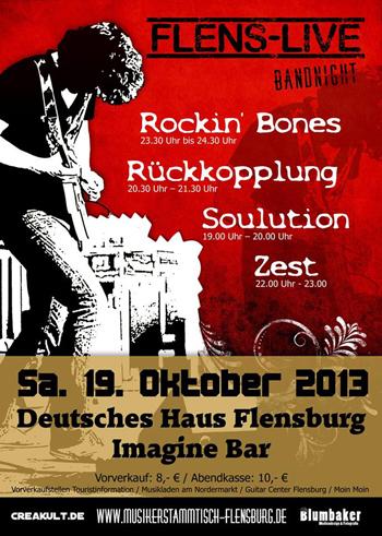 Die Flens-Live Bandnight in der Imagine-Bar im Deutschen Haus Flensburg