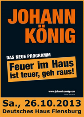 Johann König macht Feuer im Deutschen Haus Flensburg
