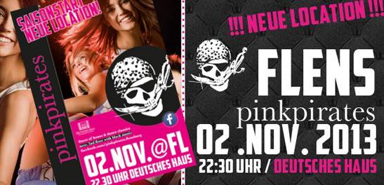 pinkpirates startet im Deutschen Haus Flensburg in die Party-Saison 2013/2014