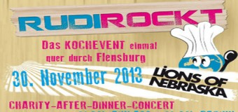 RUDI ROCKT Kochevent am 30. November in Flensburg – Aftershowparty im Volksbad