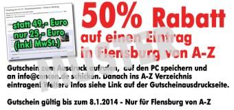 Gutschein-Aktion für Unternehmen und Vereine: Jetzt 50% sparen auf Flensburg-Szene