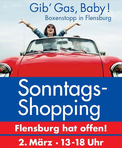 Verkaufsoffener Sonntag am 2. März in Flensburg  – Rund 340 Geschäfte haben geöffnet