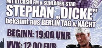 Schlager-Nacht mit Stephan Dicke in Wallsbüll – bekannt aus Berlin Tag und Nacht