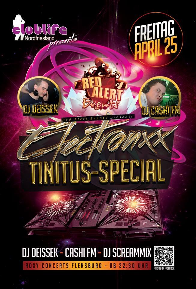 Neue Partyreihe im Roxy Concerts Flensburg –  Tinitus  Special: Elektronxx