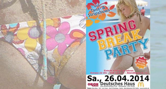 Noch ne geile Party im Deutschen Haus: Springbreak Party 2014
