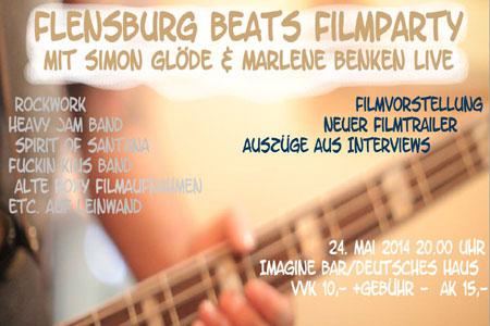 Flensburg Beats Filmparty in der Imagine Bar – erste Filmausschnitte werden gezeigt