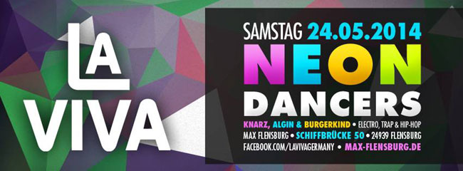 Party im MAX Flensburg – La Viva Neon Dancers