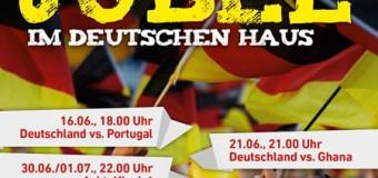 Die Juli Fussball WM Übertragungen im Deutschen Haus Flensburg
