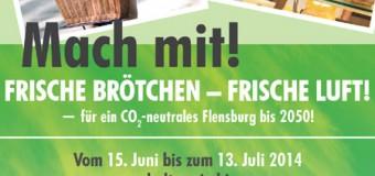 """Schmackhafte Klimapakt Aktion in Flensburg: """"Frische Brötchen – Frische Luft!"""""""