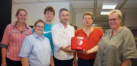 Gutes für´s Herz: Defibrillator an der FH Flensburg