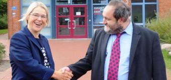Antrittsbesuch von Wissenschaftsministerin Kristin Alheit an der Europa-Universität Flensburg