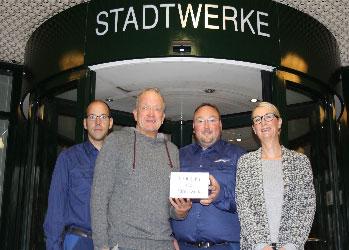 Stadtwerke Flensburg spenden 1.500 Euro für die Bürgerwette