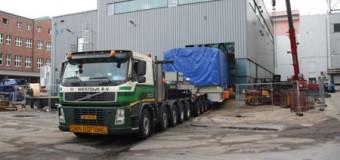 Schwertransport durch die Nordstadt – Neue Gasturbine für Stadtwerke Flensburg