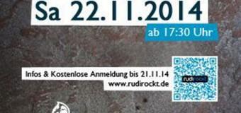 Essen & rocken: Rudi Rockt! mit  Torpus & The Art Directors im Volksbad Flensburg