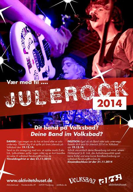 Julerock 2014 im Volksbad Flensburg – Jetzt noch bewerben