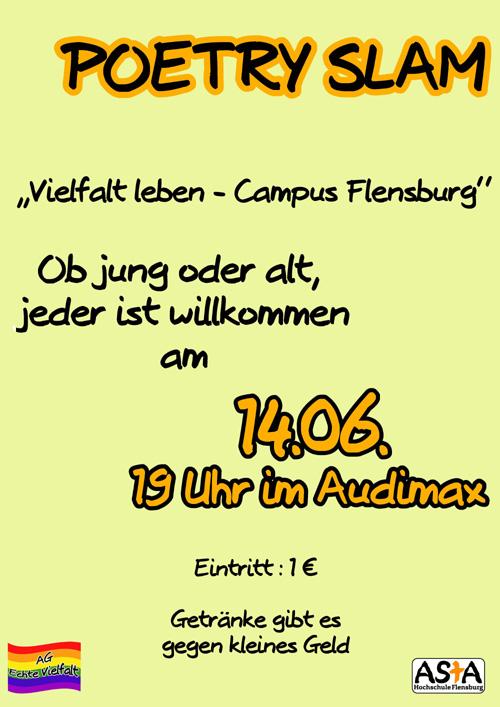 Flensburg - Poetry Slam für Vielfalt auf dem Campus - Flensburg ...