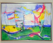 Tove Frederiksen präsentiert ihre Werke im Flensburger Gesundheitshaus