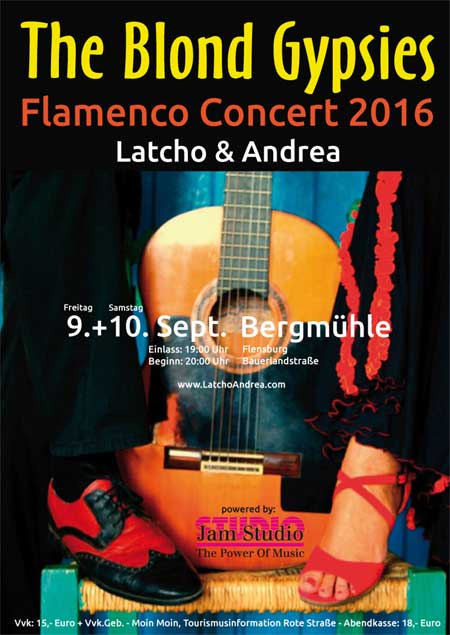 Latcho & Andrea – The Blond Gypsies live in der Flensburger Bergmühle