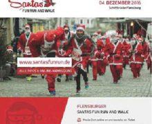 Weihnachtsmänner in Flensburg – Santas Fun Run & Walk
