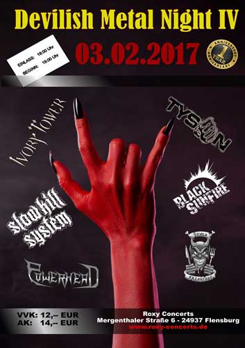 Devilish Metal Night IV im Roxy Flensburg