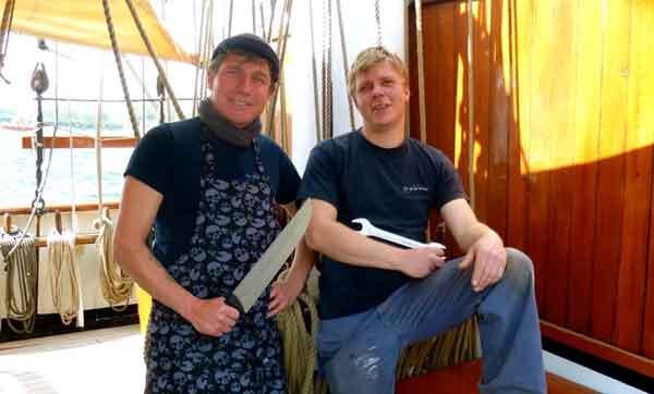 Rumregatta: Auch zwei Flensburger arbeiten auf der Eye of the Wind