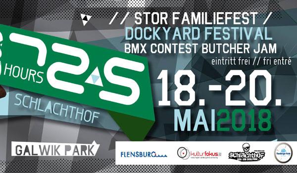 Auch in 2018: 72,5 hours Schlachthof – Butcher Jam – Dockyard Festival in Flensburg