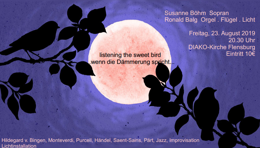 """""""listening the sweet bird..."""" - Konzert in der DIAKO-Kirche Flensburg - Flensburg-Szene Blog Onlinemagazin"""