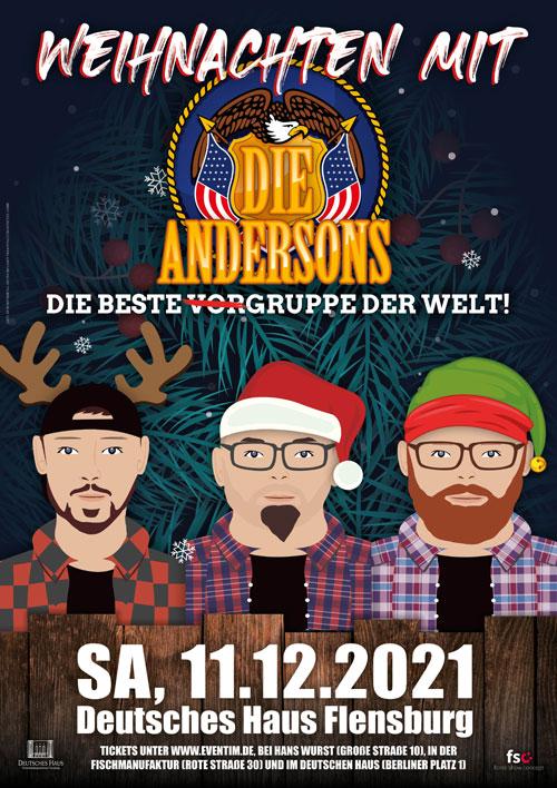 DIE ANDERSONS kommen zu Weihnachten nach Flensburg